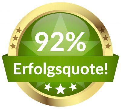 92% Erfolgsquote